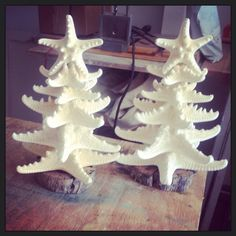 Beach Decor / Starfish Christmas Trees on Etsy, $25.00