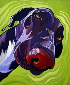 Dog Art Today: Kathryn Wronski: How I Met Your Mother Dog Artist Lives in Grass Valley