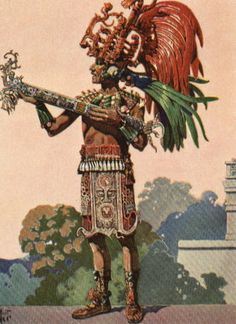 A Mayan priest.