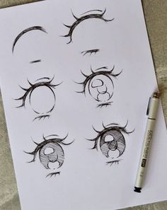 Character Design - inspiration for your future project - Character Design character design inspiration character design eyes how to draw eyes - Sketch Manga, Anime Drawings Sketches, Cool Art Drawings, Pencil Art Drawings, Manga Drawing, Face Sketch, Cute Eyes Drawing, Realistic Eye Drawing, Drawing Designs