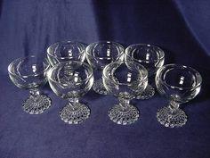 Vintage Set (7) Anchor Hocking Bubble Foot Liquor Cocktail Wine Goblets. Click on the image for more information. Wine Goblets, Anchor Hocking, Just Giving, Utensils, Modern Interior, Liquor, Depression, Glass Art, Pots