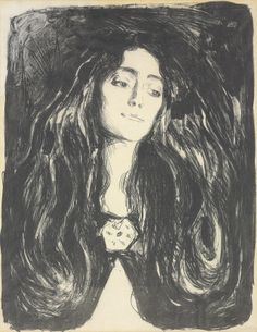 Edvard Munch (1863-1944)The Brooch (Eva Mudocci), 1903
