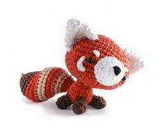 Rusty the Red Panda amigurumi crochet pattern by A Morning Cup of Jo Creations