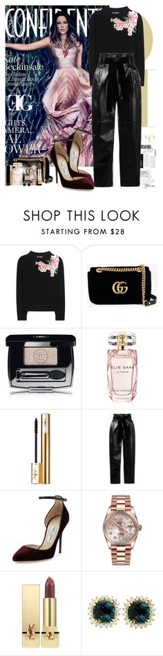 """La la la"" by eleonoragocevska ❤ liked on Polyvore featuring Dolce&Gabbana, Gucci, Chanel, Elie Saab, Yves Saint Laurent, Philosophy di Lorenzo Serafini, Jimmy Choo, Rolex and Beverly Hills Charm"