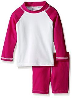 Flap Happy Baby Baby Girls Colorblock Rash Guard