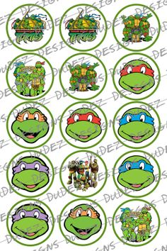 Ninja Turtle Power 1 inch Bottle cap images by DudezDigitals, $1.50