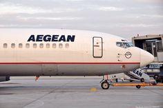 "Aegean Airlines Boeing 737-42C SX-BLM (cn 24813/2062) 20/JAN/2010 Athens International Airport ""Eleftherios Venizelos"" IATA: ATH – ICAO: LGAV"