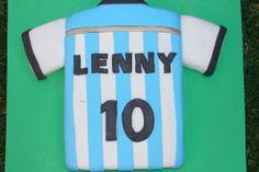 Torta Camiseta de la seleccion Argentina de futbol.