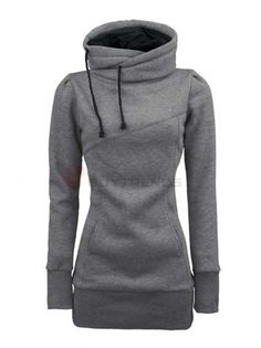 92cfcf402f9 Women s Loose Leisure Slim Long Hoodie 4 Colors on buytrends.com Casual  Outfits