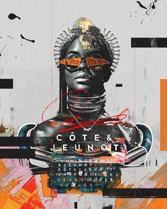 COTE & JEUNOT on Behance Dj Logo, Graphic Design Projects, Social Media Design, Graphic Design Illustration, Artsy Fartsy, Collage Art, Cover Art, Design Inspiration, Branding