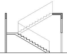Projeto de escada em corte