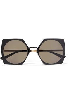 dca56f59af Marni - Oversized square-frame acetate and gold-tone sunglasses