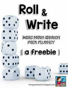 Please come back and take 10 seconds to leave feedback! I'd really appreciate it and will keep the FREEBIES coming if I get more feedback! Do your students need to work on their basic math facts? It's as easy as using dice!
