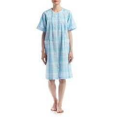 Miss Elaine® Short Plaid Zip Robe