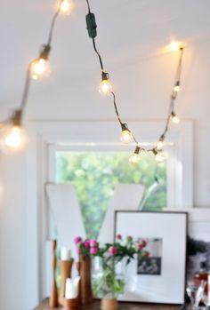 Afbeeldingsresultaat voor slinger lampjes tuin