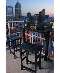 Miyu Furniture Balcony Bar Height Bistro Set
