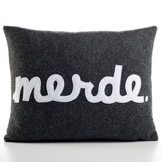 Merde 14x18 Charcoal, $99, now featured on Fab. This is French for s****   For example, Merde! I forgot my Algebra homework!