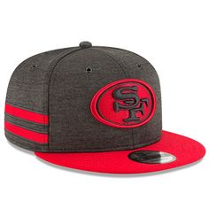 another chance cd094 d28d5 San Francisco 49ers New Era 2018 NFL Sideline Home Official 9FIFTY Snapback  Adjustable Hat – Black Scarlet