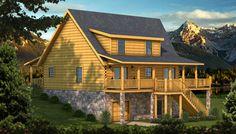 Henderson Rear Elevation - Southland Log Homes