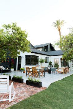 Evergreen House: Side Porch Reveal - Juniper Home Bungalows, Outdoor Spaces, Outdoor Living, Outdoor Decor, Hampshire, Evergreen House, Pergola, Side Porch, Exterior Makeover