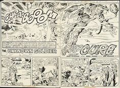1976 UNKNOWN SOLDIER STAR SPANGLED WAR STORIES #202 ORIGINAL COMIC ART PAGE 1-3 | eBay Comic Books For Sale, Unknown Soldier, Star Spangled, Block Lettering, Art Pages, For Stars, Teen Titans, Comic Art, Dc Comics