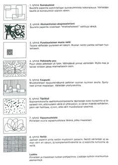 Abstraktismi - (ryhmä)työaiheita.