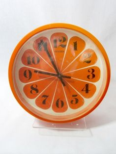Vintage Orange Hanson Wall Clock