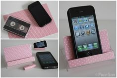 Turns out anything can become a smartphone stand, like a cassette case. | 28 Low-Tech Hacks For Your High-Tech Gadgets