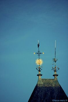 Photo du clocher de l'église Saint-Eucaire, rue Saint-Eucaire à Metz