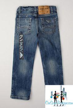 Armani JUNIOR 5 Pocket Jean New size 5T, PRETTY Blue