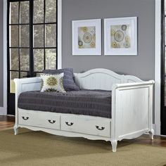Rubbed White Daybed - farmhouse - Day Beds And Chaises - ivgStores