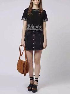 Blusa Barra Bordada - Compre Online | DMS Boutique