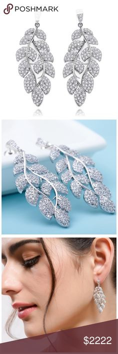 ‼️COMING SOON Swarovski Crystals Leaf Earrings ‼️ ‼️PLEASE LIKE THIS LISTING TO BE NOTIFIED WHEN THEY ARRIVE‼️‼️ Jewelry Earrings