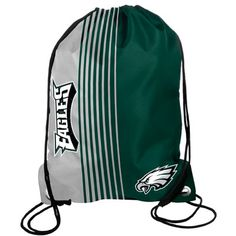 Carry them team wherever you go with this #Eagles Striped Drawstring Bag $9.99