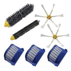 Aero Vac Filter Bristle Brush Flexible Beater Brush 6-Armed Side Brush For iRobot Roomba 600 Series (620 630 650 660) #women, #men, #hats, #watches, #belts, #fashion, #style