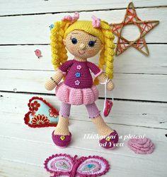 PATTERN - Doll Viky - crochet pattern, amigurumi pattern, PDF