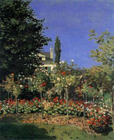 Garden in Bloom in Sainte-Adresse c. 1866 Oil on canvas, 65 x 54 cm Musée d'Orsay, Paris