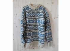 Vintage 80's Chunky Norwegian Knitted Sweater by kickassvintage, $34.00