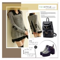 """""""YESSTYLE"""" by amra-mak ❤ liked on Polyvore featuring BeiBaoBao, SouthBay Shoes and yesstyle"""