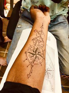 Compass Tattoo Forearm, Eagle Tattoo Arm, Forearm Band Tattoos, Tribal Arm Tattoos, Map Tattoos, Upper Arm Tattoos, Best Sleeve Tattoos, Family Tattoo Designs, Family Tattoos