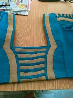 Designer Blouse drafting,cutting & stitching                                                                                                                                                                                 More Saree Jacket Designs, Cotton Saree Blouse Designs, Patch Work Blouse Designs, Simple Blouse Designs, Stylish Blouse Design, Chudidhar Neck Designs, Salwar Neck Designs, Blouse Back Neck Designs, Neckline Designs