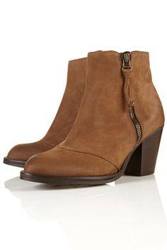 AMBUSH Taupe Side Zip Boots