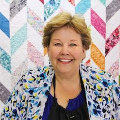 Jenny Doan from the Missouri Star Quilting Company. This lady produces some fantastic tutorials and has given me the confidence to give quilting a go! Thank you Jenny :) Quilting For Beginners, Quilting Tutorials, Quilting Designs, Msqc Tutorials, Quilting Ideas, Quilting Projects, Sewing Projects, Herringbone Quilt Tutorials, Baby Boy Quilt Patterns