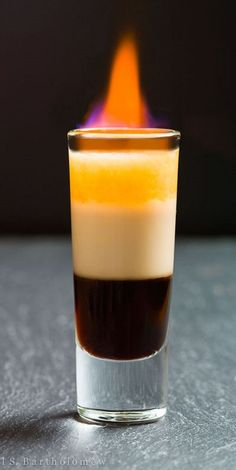 B-52 is a sweet and creamy liqueur based cocktail. Very delicious!