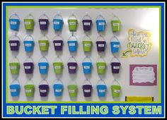 Bucket Filling Emotional Intelligence via RainbowsWithinReach (RoundUP of Classroom Inspiration! Classroom Organisation, Classroom Displays, Classroom Management, Behaviour Management, Organization, Class Management, 4th Grade Classroom, Classroom Activities, Classroom Ideas