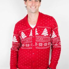 Classy Fair Isle Christmas Cardigan from Funky Christmas Jumpers Ireland. Our Classy Fair Isle Christmas Cardigan is the must have fashion accessory for Christmas 2014 Mens Christmas Jumper, Christmas Jumpers, Only Cardigan, Color Schemes, Fashion Accessories, Leather Jacket, Classy, Crowd, Jackets