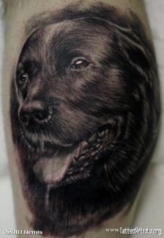 portrait tattoos | Dog portrait tattoo