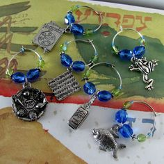 PASSOVER 6 jewish hebrew judaica pewter by downtoearthcreations, $36.00