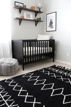 Tribal Adventure Nursery Update- Featuring Lorena Canals Rugs A boys Tribal Adventure Nursery, modern nursery shelves, cactus nursery, animal print Baby Bedroom, Baby Boy Rooms, Baby Room Decor, Baby Boy Nurseries, Nursery Room, Kids Bedroom, Baby Boys, Boy Nursery Rugs, Black And White Boys Bedroom