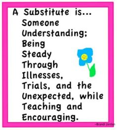 Guest post by Brandi at Really Good Stuff about her adventures in subbing... http://subhubonline.blogspot.com